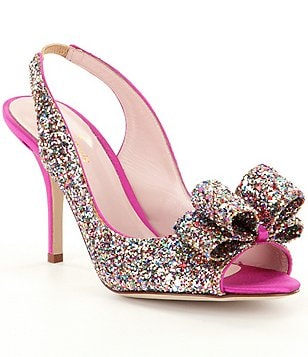 kate spade new york Charm Slingback Peep Toe Pumps