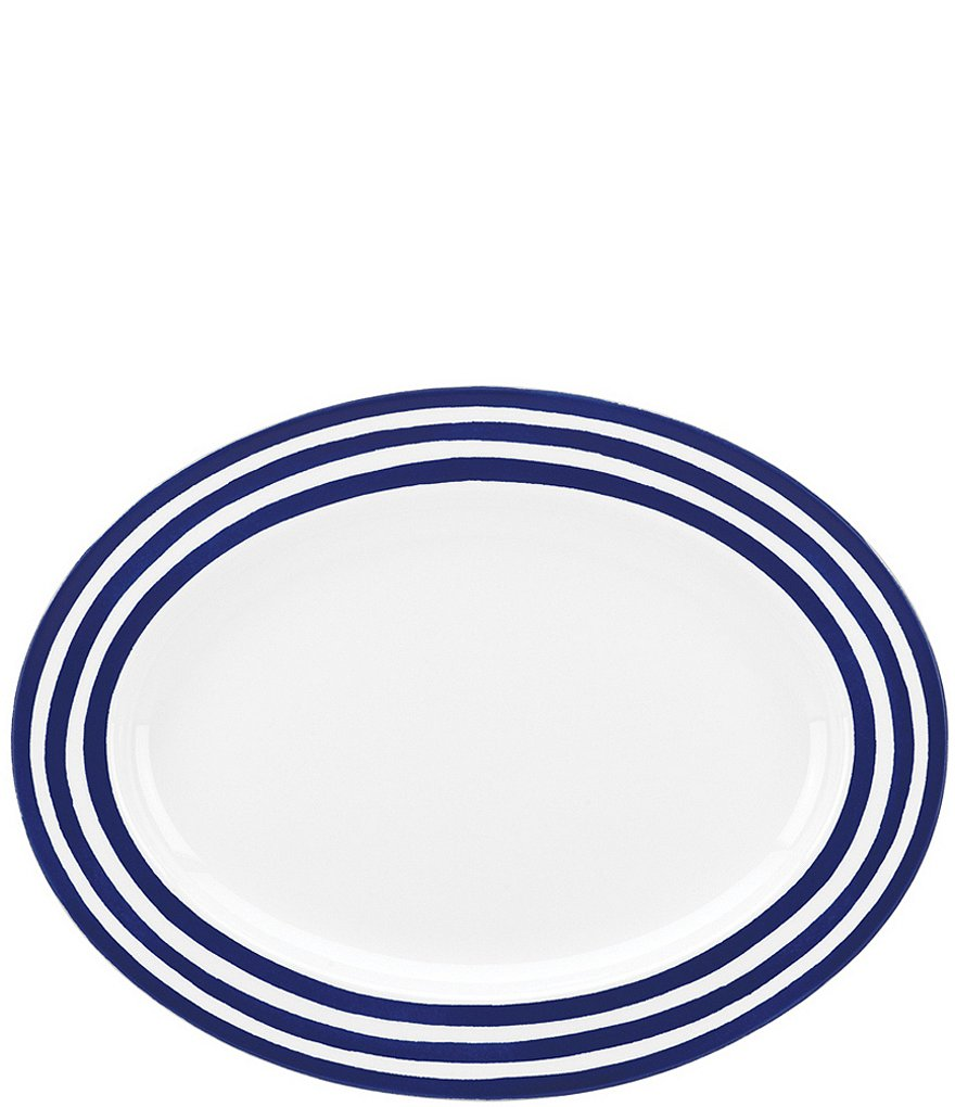 kate spade new york Charlotte Street Striped Porcelain Oval Platter