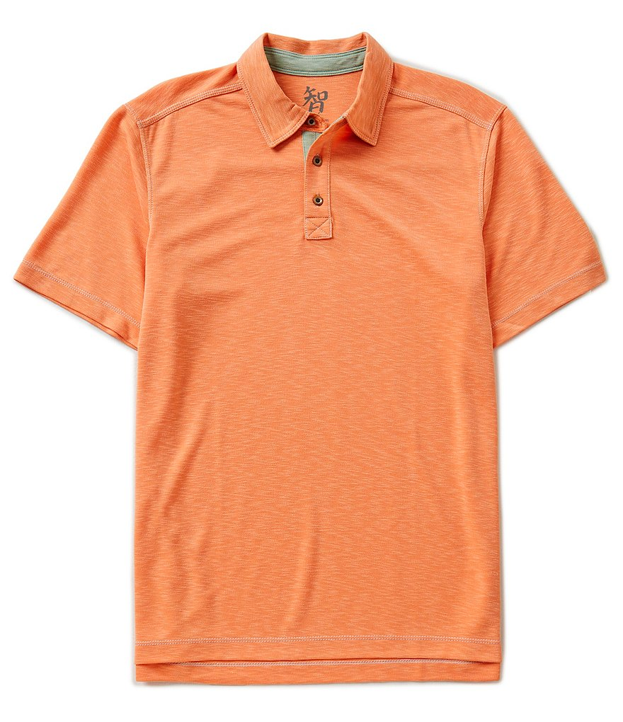 Age Of Wisdom Short-Sleeve Slub Polo Shirt