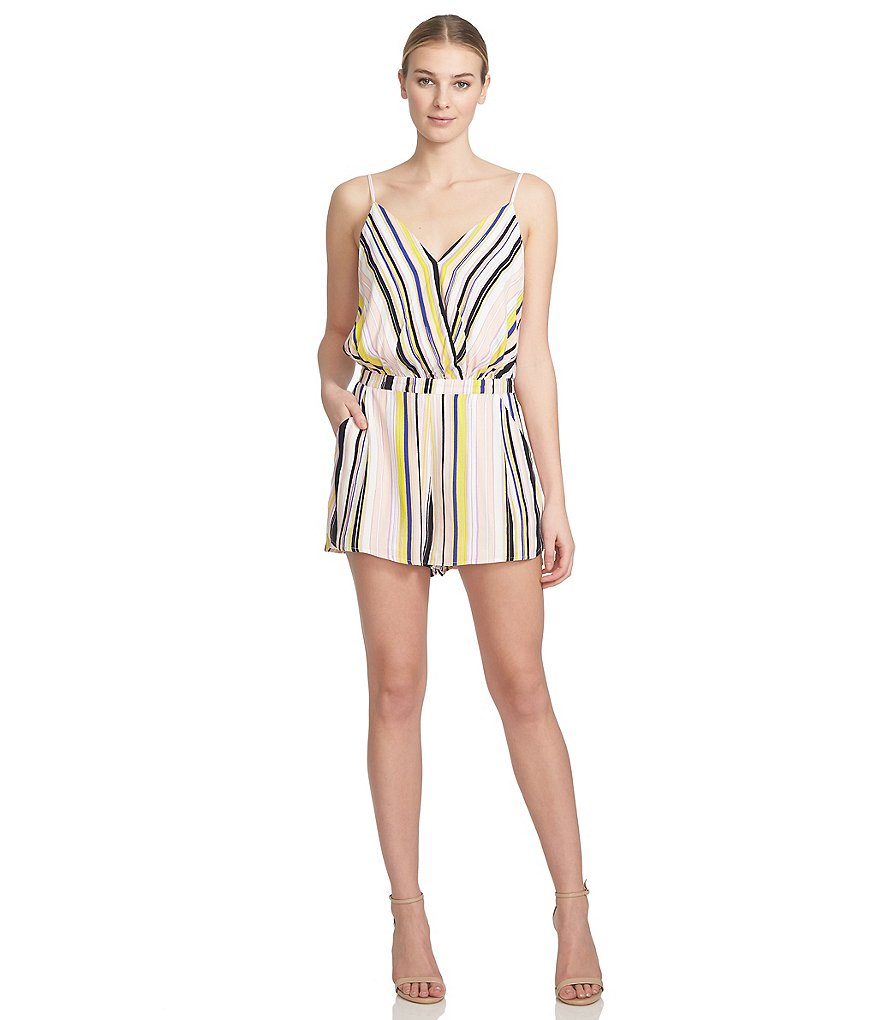 1. STATE Striped Flounce Romper