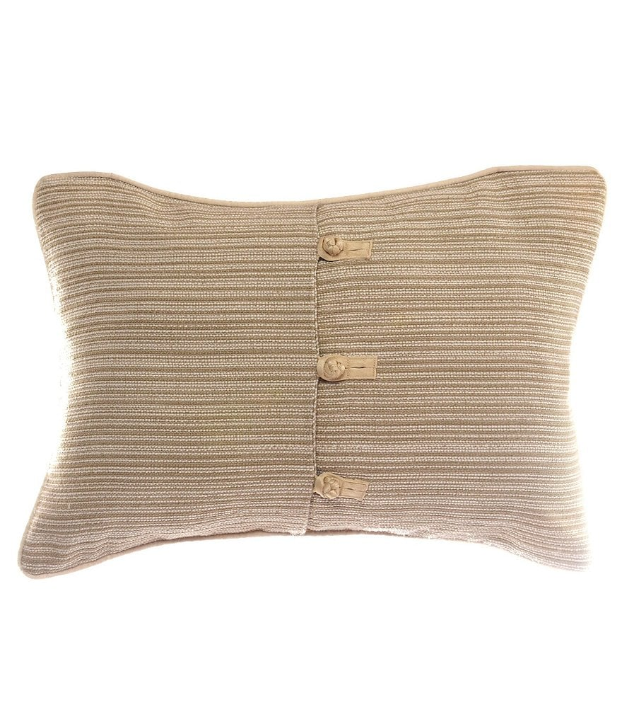candice Olson Amour Knotted Striped Jacquard Breakfast Pillow