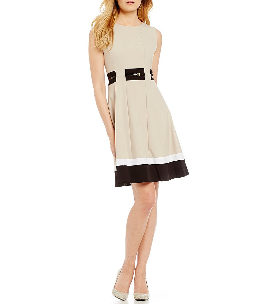 Calvin Klein Petite Fit-and-Flare Dress