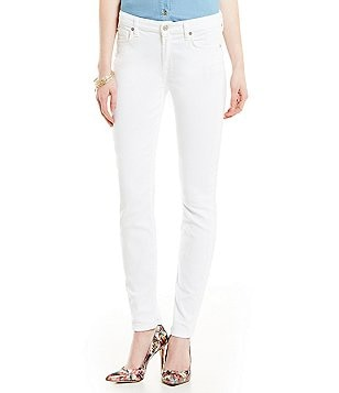 7 for All Mankind The Skinny Clean White Jeans