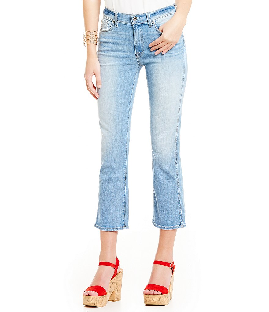 7 For All Mankind Coronado Springs Cropped Flare Capri