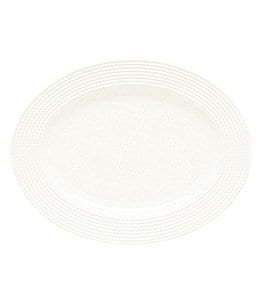 kate spade new york Wickford Rope-Embossed Porcelain Oval Platter Image