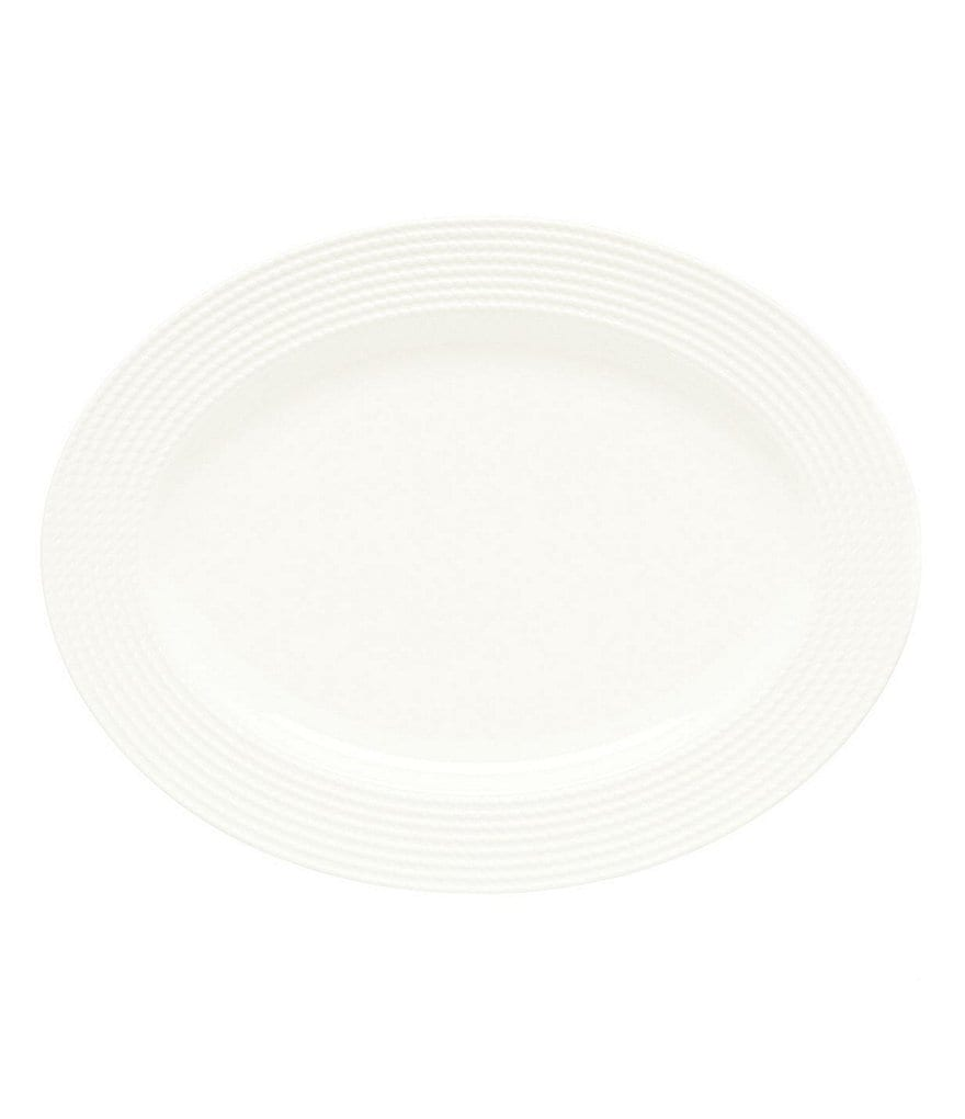 kate spade new york Wickford Rope-Embossed Porcelain Oval Platter