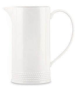 kate spade new york Wickford Rope-Embossed Porcelain Pitcher Image