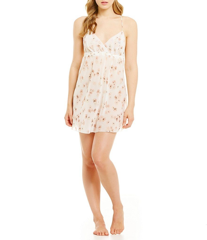 Flora Nikrooz Camellia Floral Chiffon Chemise