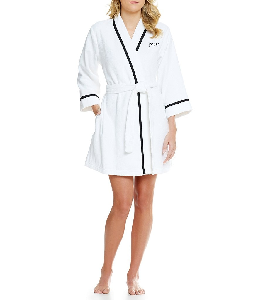 kate spade new york Bridal French Terry Wrap Robe
