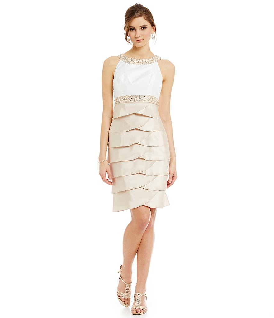 Jessica Howard Petite Sleeveless Beaded Dress