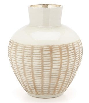 Noble Excellence Naturals Etched Glass Vase