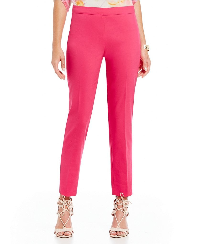 Chaus Courtney Side Zip Solid Pants