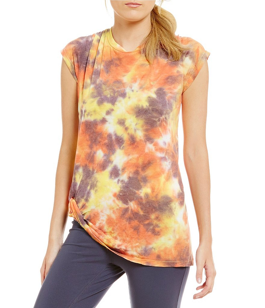 Westbound in Motion Tie-Dye Printed Twist Tunic