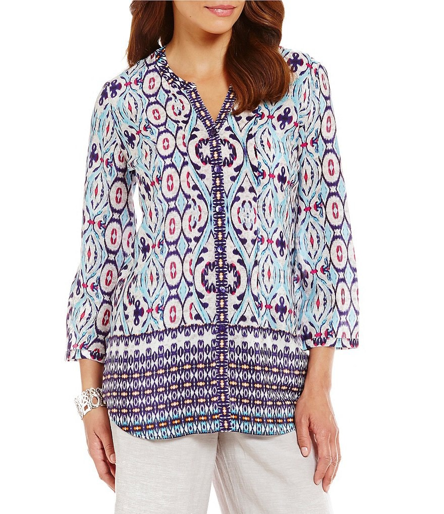ZOZO Indigo Traveler Silk 3/4 Sleeve Shirt
