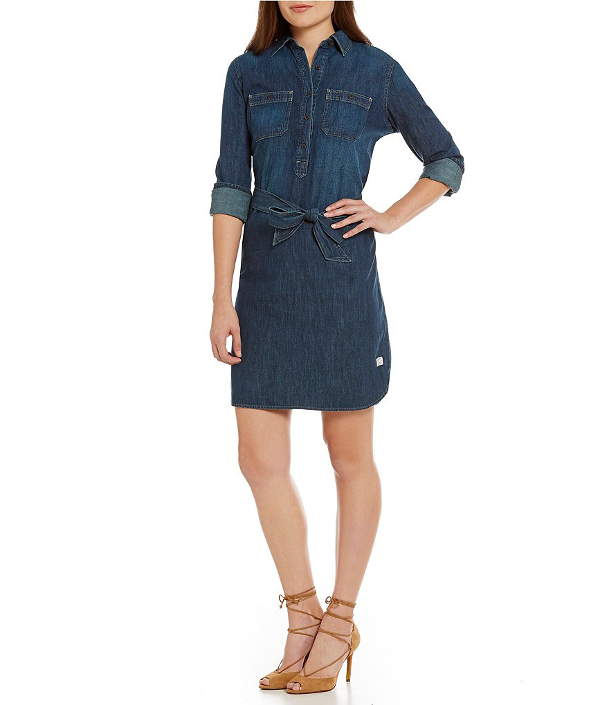Lauren Ralph Lauren Self-Tie Denim Shirtdress