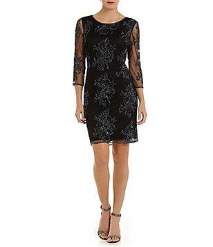 Pisarro Nights Petite Beaded Sheath Dress