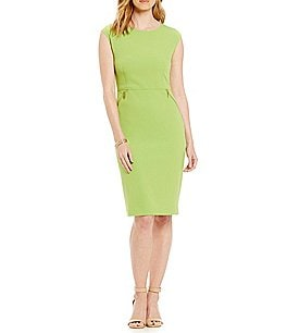 Kasper Crepe Sheath Dress Image