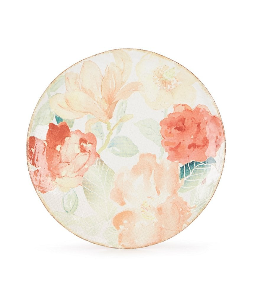 Southern Living Floral Stoneware Salad Plate