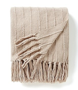 Southern Living Winnie Ribbed Fringed Throw