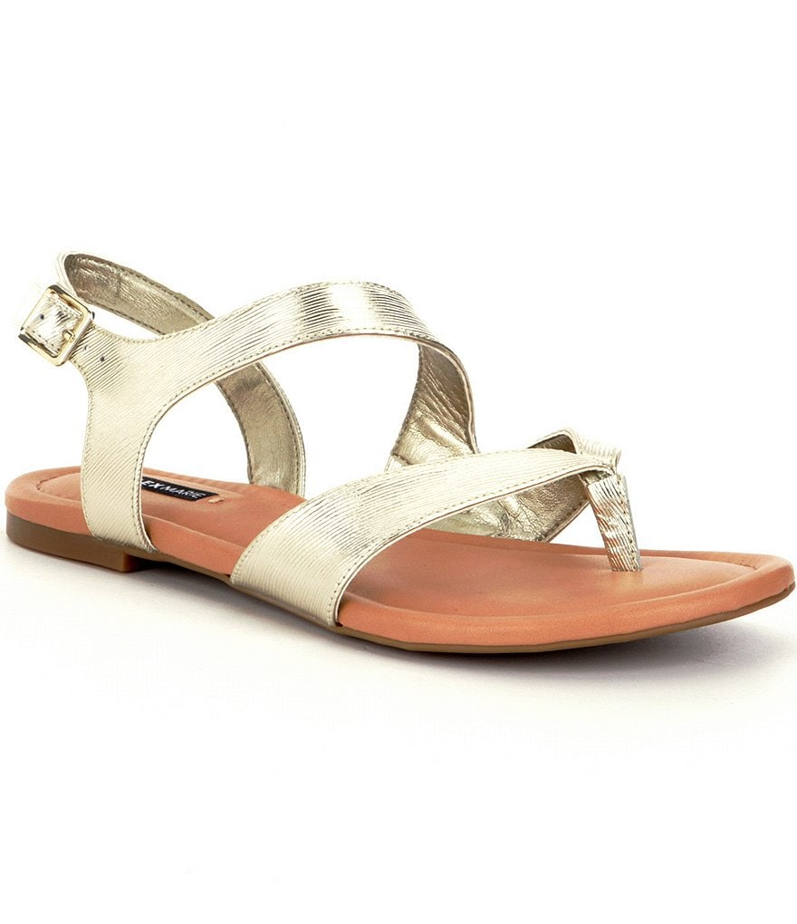 Alex Marie Hollyn Flat Asymmetrical Sandals