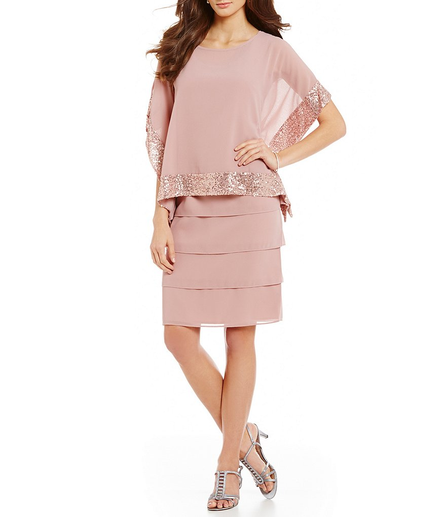 Le Bos 2-Piece Tiered Popover Dress