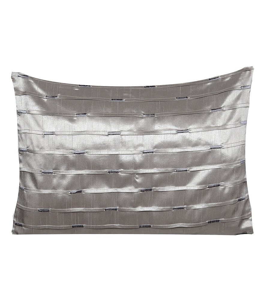 candice OLSON Gravity Metallic Embroidered Pleated Oblong Pillow