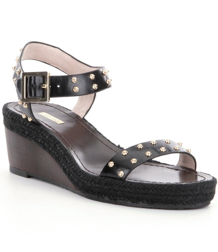 Louise et Cie Onika Low Wedge Studded Sandals