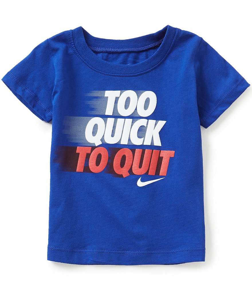 Nike Baby Boys 12-24 Months Too Quick To Quit Short-Sleeve Tee