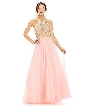 Glamour by Terani Couture Beaded Illusion Bodice Ball Gown