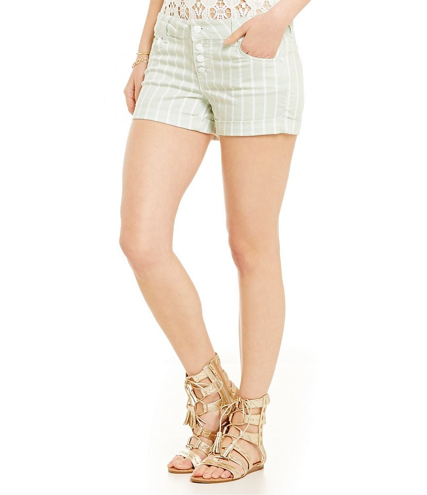 Celebrity Pink Striped Twill Shorts