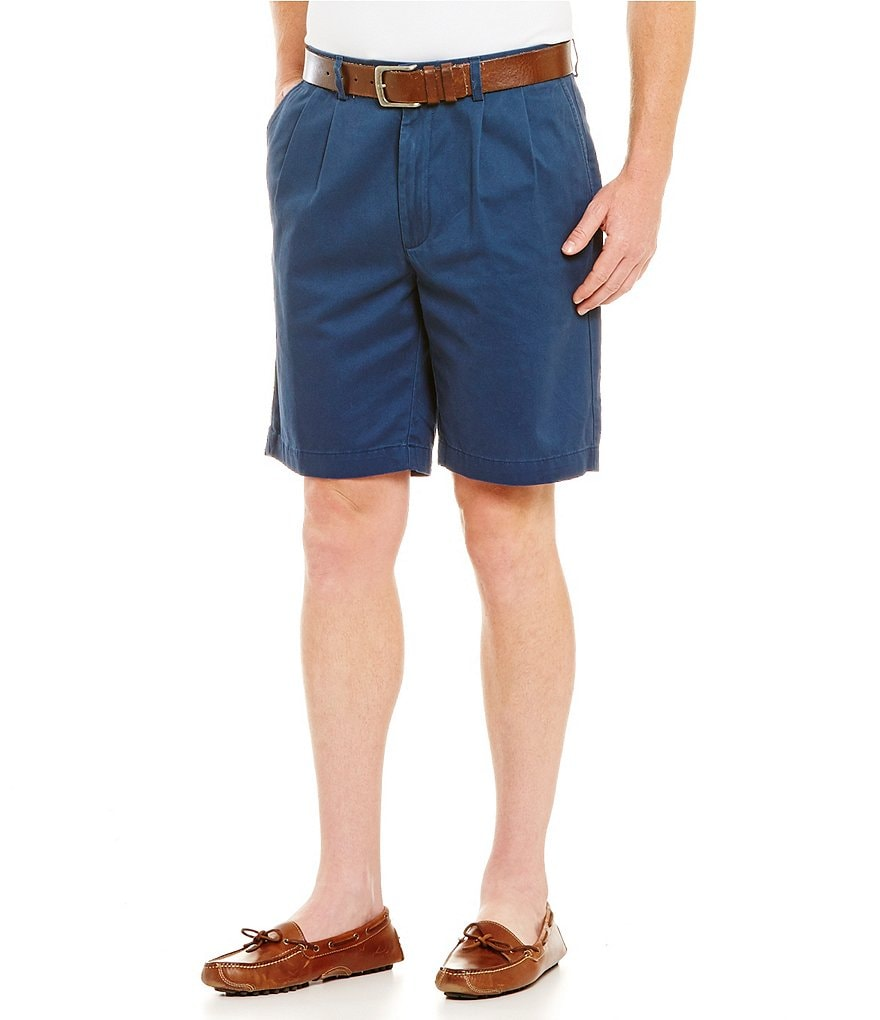Roundtree & Yorke Casuals Pleated Twill Shorts