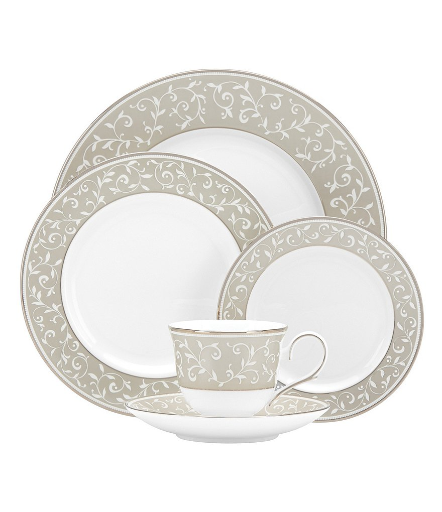 Lenox Opal Innocence Dune Vine & Pearl Platinum Bone China
