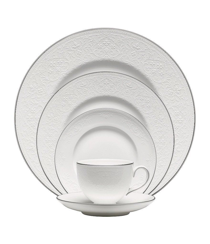 Wedgwood English Lace Platinum Bone China