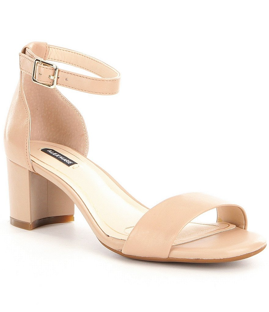 Alex Marie Soffiah Banded Ankle Strap Block Heel Dress Sandals