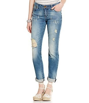 KUT from the Kloth Catherine Destructed Boyfriend Jeans
