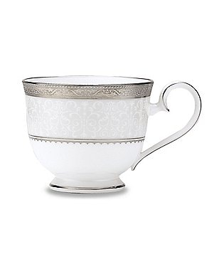 Noritake Odessa Floral Platinum Bone China Cup