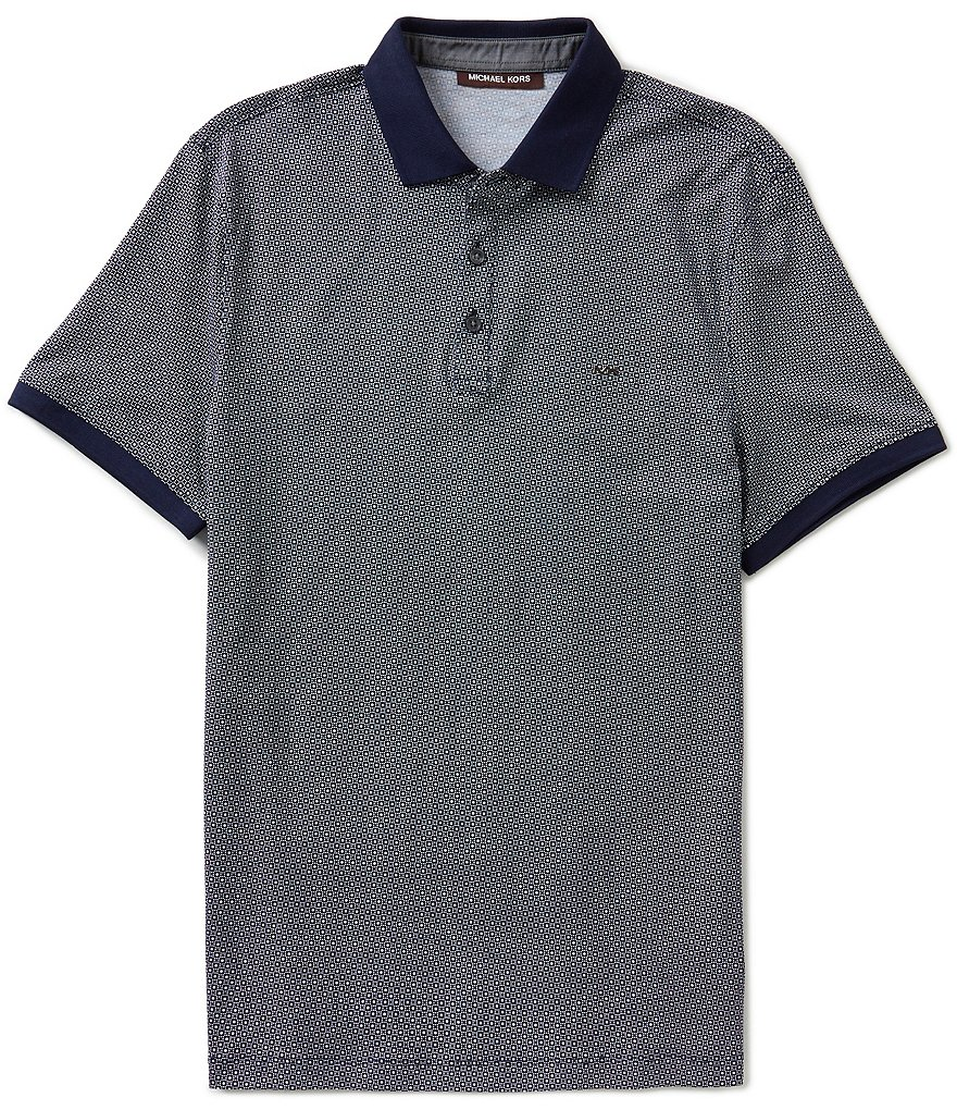 Michael Kors Short-Sleeve Dot Mercerized Polo Shirt