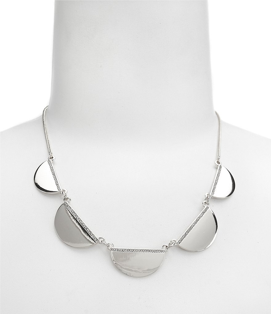 Natasha Half Moon Medallion Collar Necklace