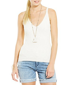 Jessica Simpson Roselle Sweater Tank Top