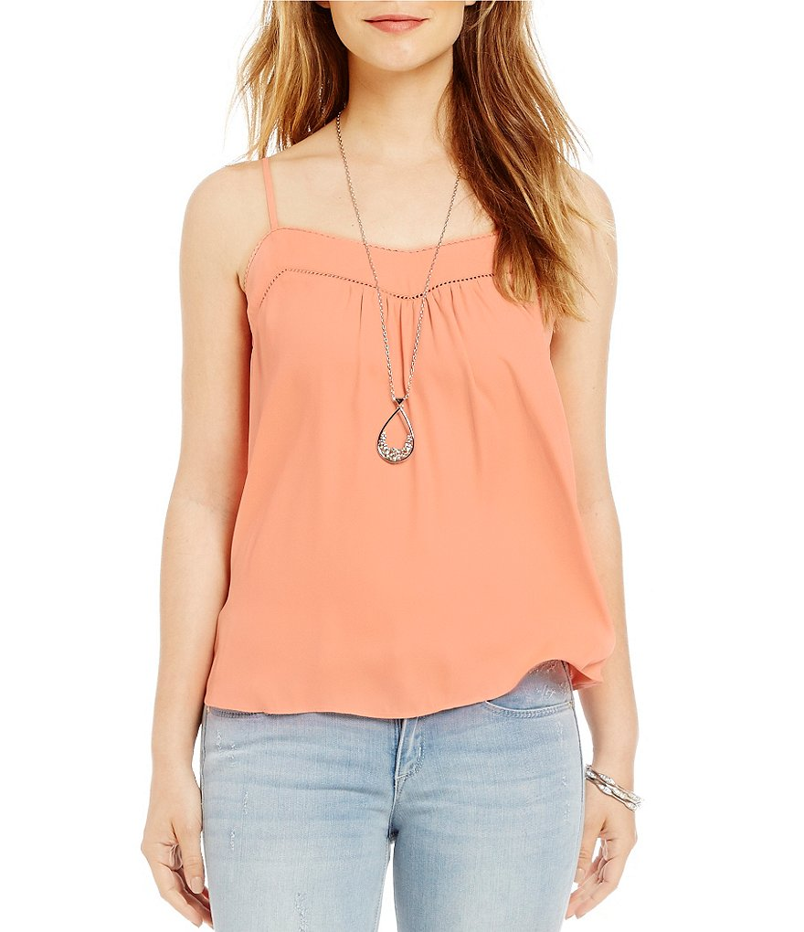 Jessica Simpson Shelby Cross Back Peasant Tank Top