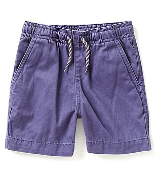 First Wave Little Boys 2T-7 Pull-On Flat Front Shorts
