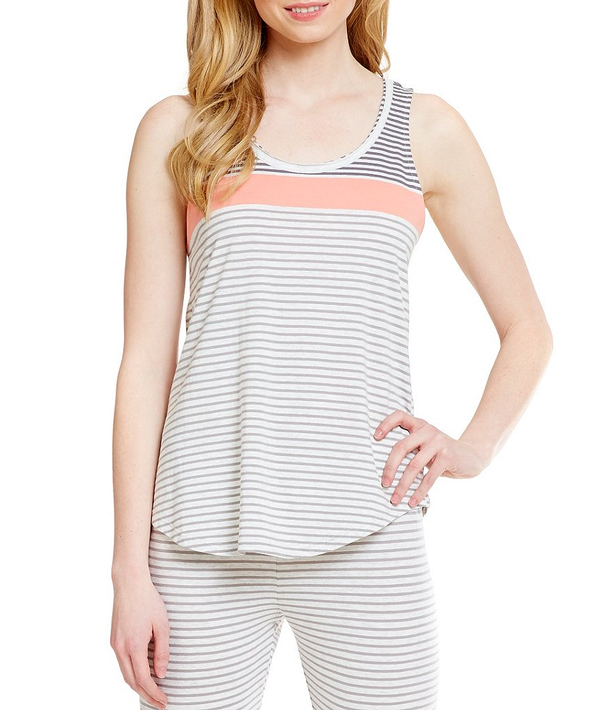 Lucky Brand Striped Jersey Knit Tank Top