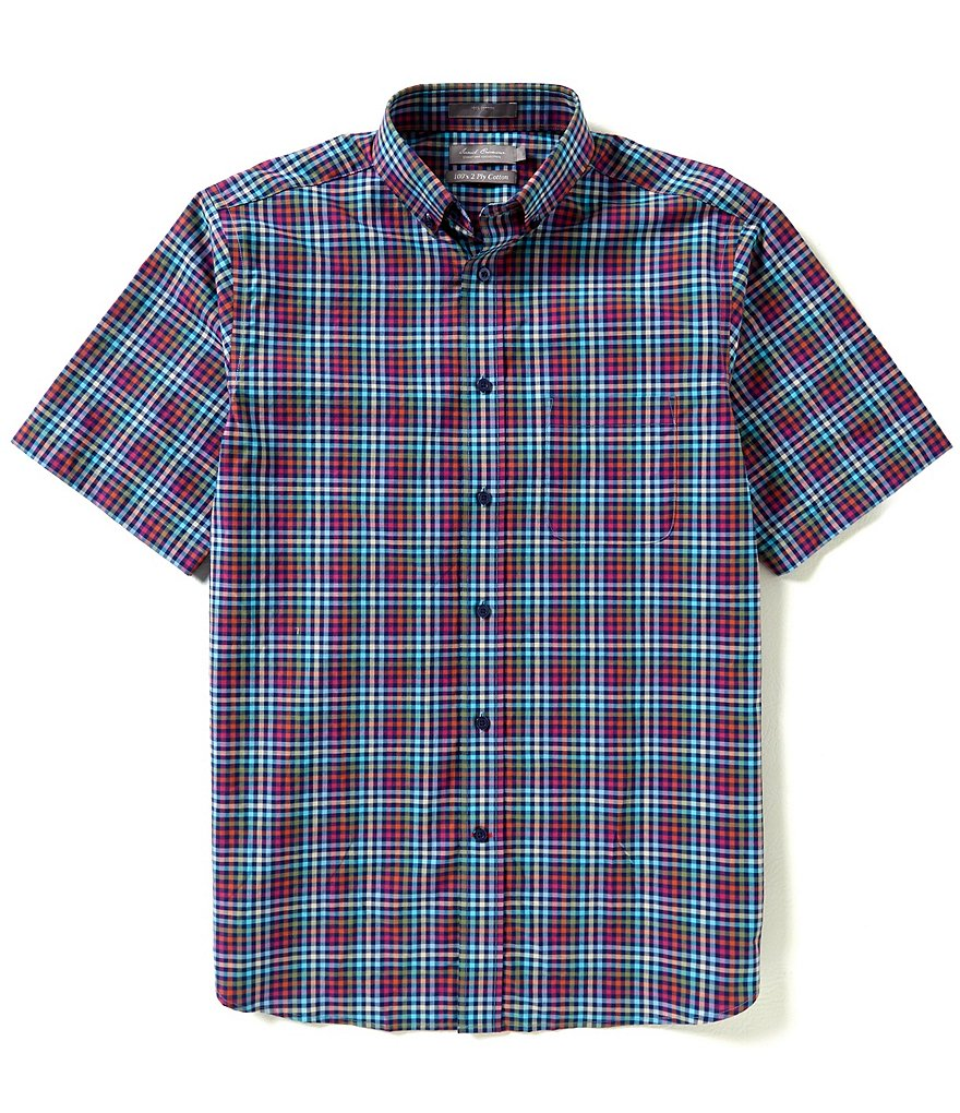 Daniel Cremieux Signature Short-Sleeve Small Plaid Woven Shirt