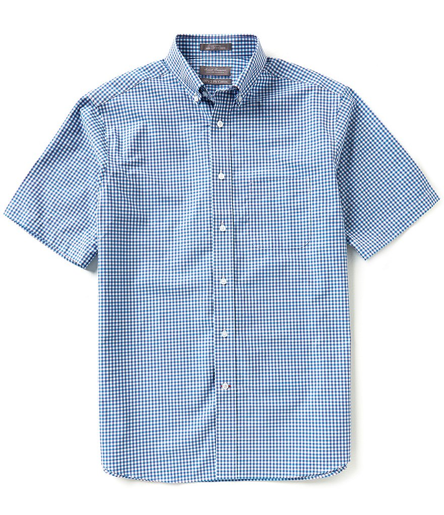 Daniel Cremieux Signature Short-Sleeve Small Check Woven Shirt