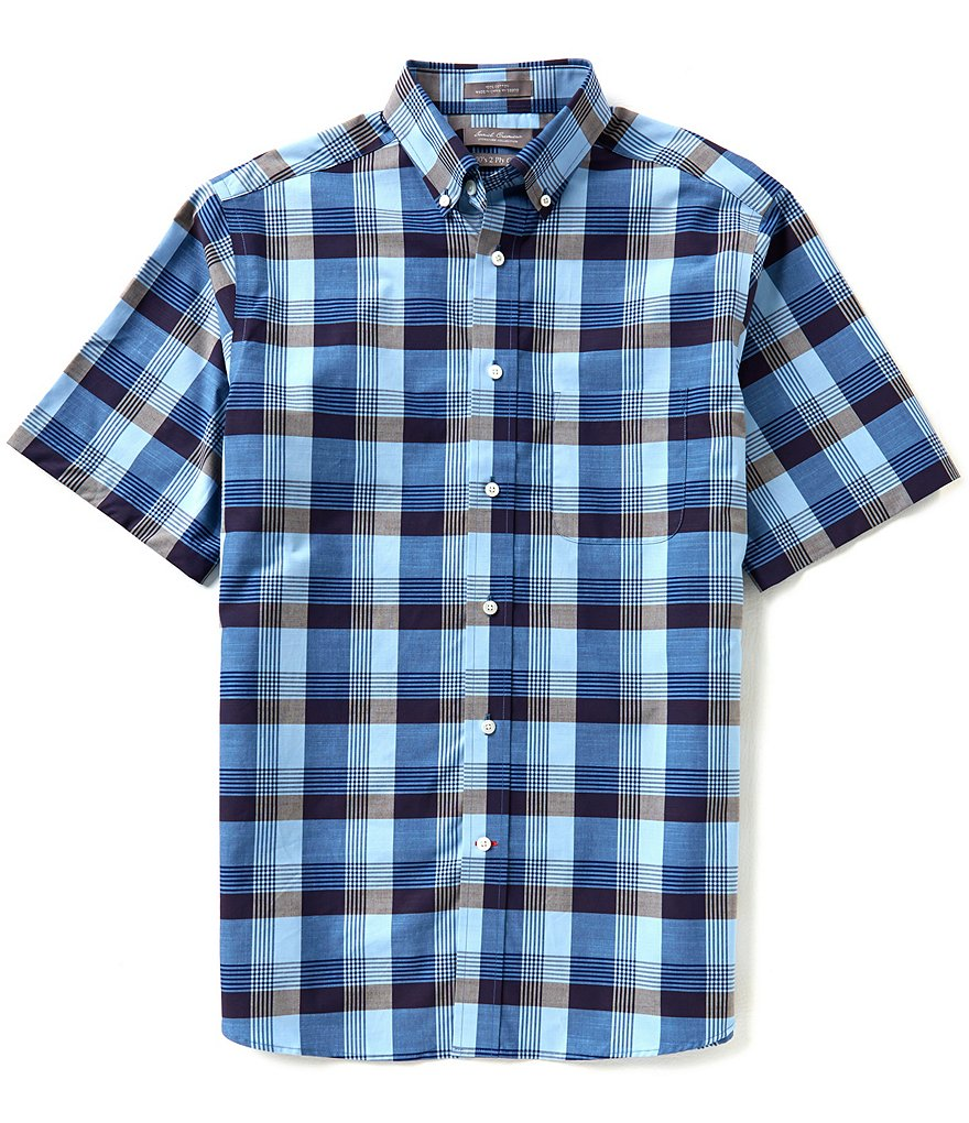 Daniel Cremieux Signature Short-Sleeve Large Check Woven Shirt