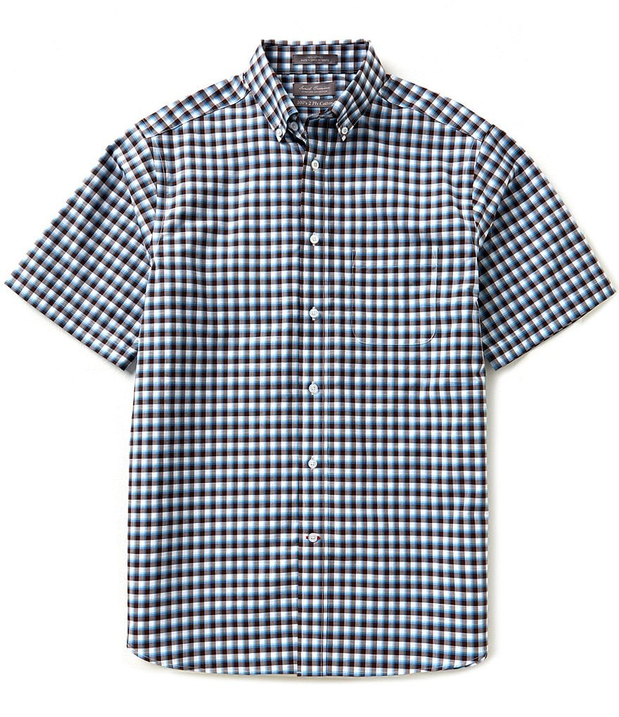 Daniel Cremieux Signature Short-Sleeve Mini Check Woven Shirt