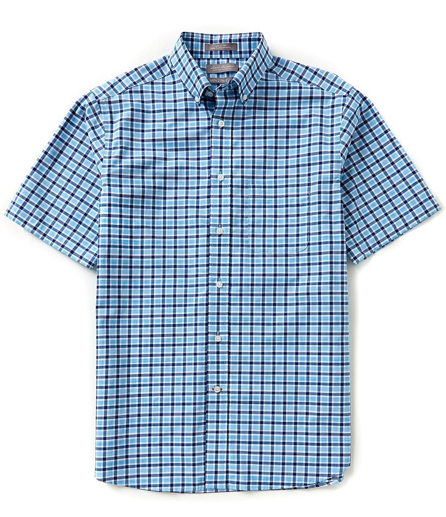 Daniel Cremieux Signature Short-Sleeve Plaid Woven Shirt