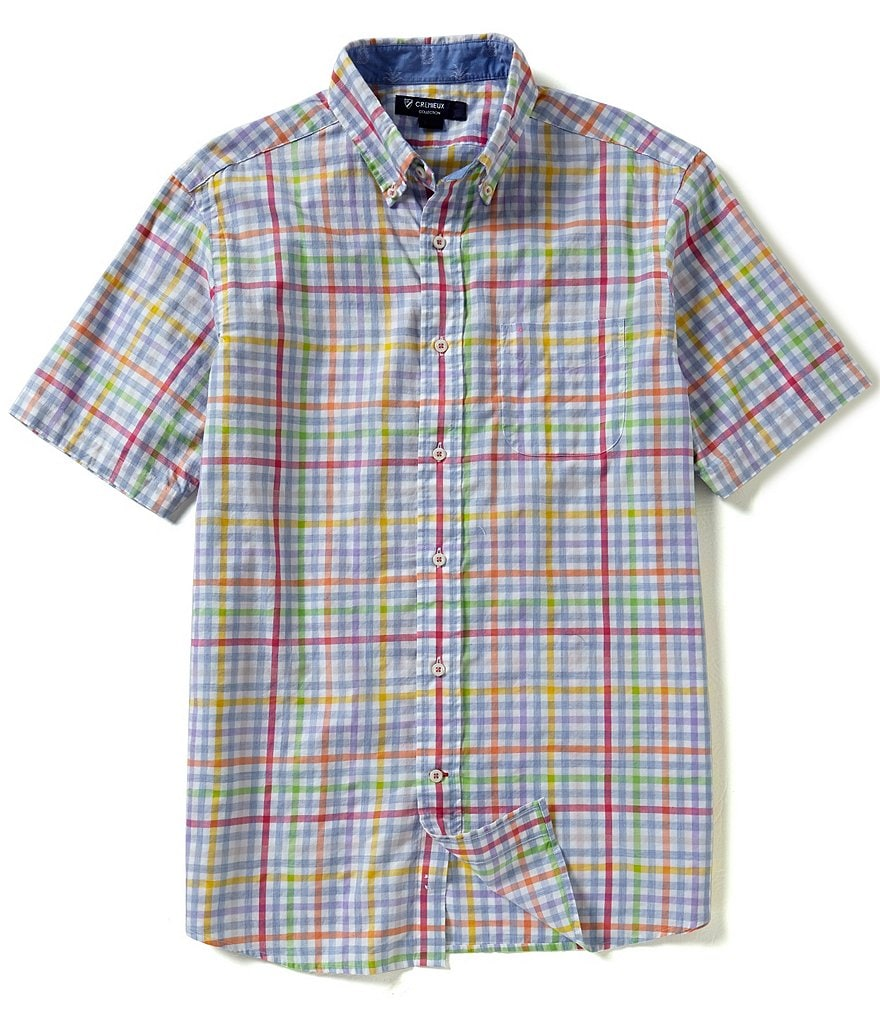 Cremieux Short-Sleeve Check Woven Shirt