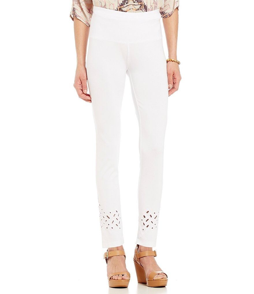 John Mark Eyelet Trim Leggings