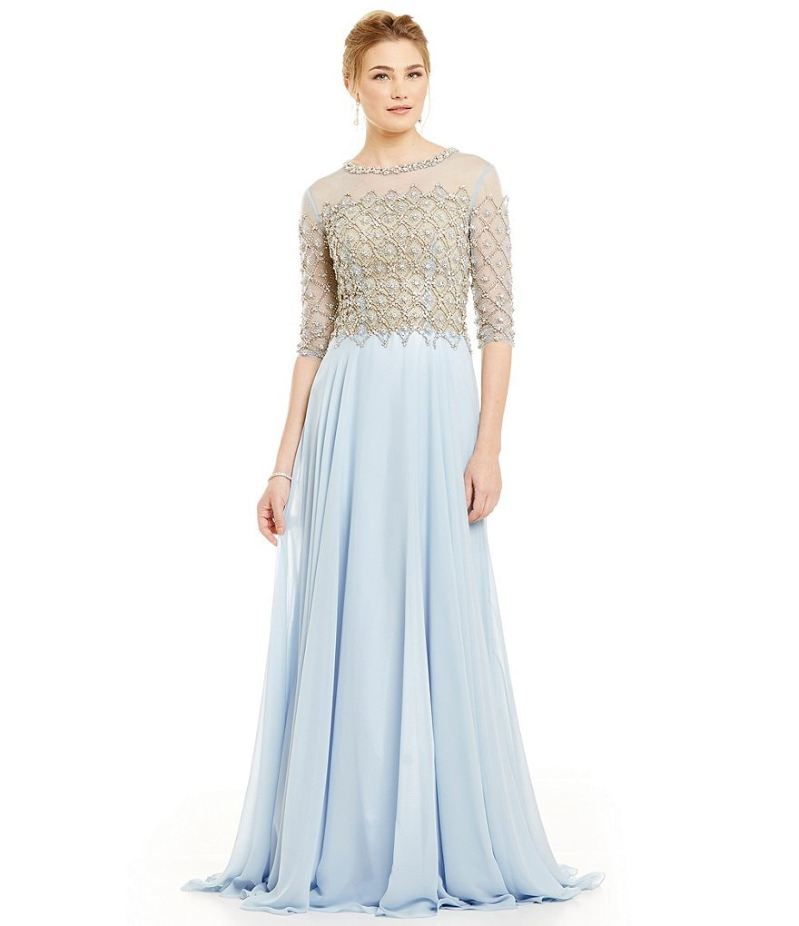 Terani Couture Beaded Chiffon Gown